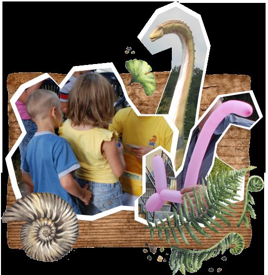 balonowe dinozaury